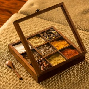 wooden-spice-box-masalabox-spicerack-wood-spice-container